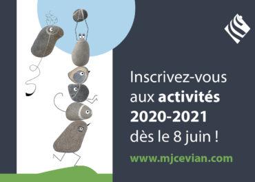 Ouverture des inscriptions activités 2020-2021